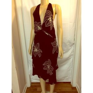 SL FASHION  Women's Size 14  Midi ~ Halter  Dress